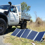Dobinsons 4x4 130 Watt Folding Solar Panel Kit with MPPT Charging Module