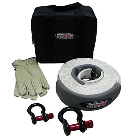 "Dobinsons 4x4 Complete Snatch Tow Strap Kit with 3"" x 30 FT Strap, Shackles and Bag(SS80-3804)"