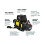 Dobinsons 12V Electric Winch - 12,000 LBS Capacity with Synthetic Rope, Hawse Fairlead and Remote Control(EW80-3815S)