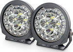 "Dobinsons 8.25"" Zenith LED Driving Light Pair with 155 Watt and 12,700 Raw Lumens per light"