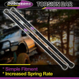 Dobinsons Heavy Duty Torsion Bars For Mahindra Scorpio 4x4 2.5L 2008 on(TB38-1673)
