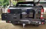 REAR BAR FORD RANGER PX 2011+ WITH SINGLE WHEEL CARRIER & DUAL JERRY CAN HOLDER