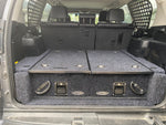 Dobinsons Rear Dual Roller Drawer System for Lexus GX460(with rear A/C system) with Fridge Slide