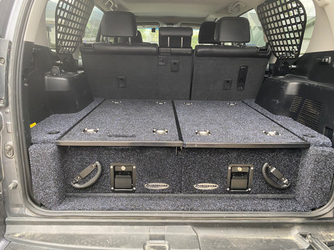 Dobinsons Rear Dual Roller Drawer System for Lexus GX460(without rear A/C system) with Fridge Slide and Side Panels