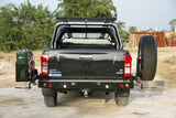 REAR BAR - ISUZU DMAX 2012-19 WITH SINGLE WHEEL CARRIER & DUAL JERRY CAN HOLDER