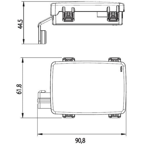 0300442 Pre-Mounted Housing DX for 3 MidiVAL with Cover and Bus Bar