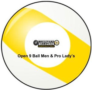 Boulevard Billiards Open 9 Ball Men's