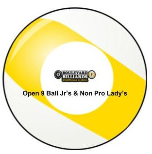 Boulevard Billiards Open 9 Ball Jr's and Non pro lady's