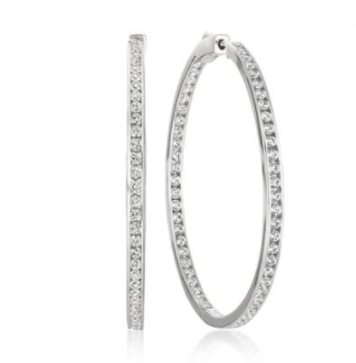 Crislu Medium Pave Hoops