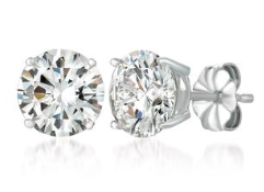 Crislu Brilliant Cut Platinum Stud 6.00 CW