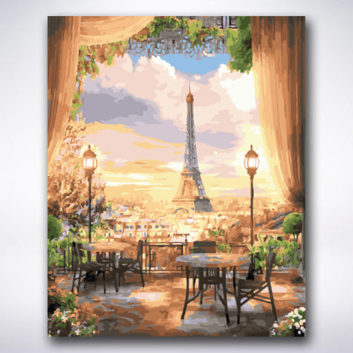 Beautiful Eiffel Tower View - Paint by number