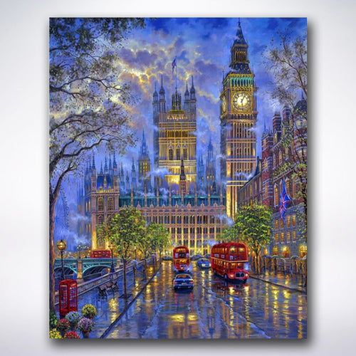 Big Ben By Night - Paint by number
