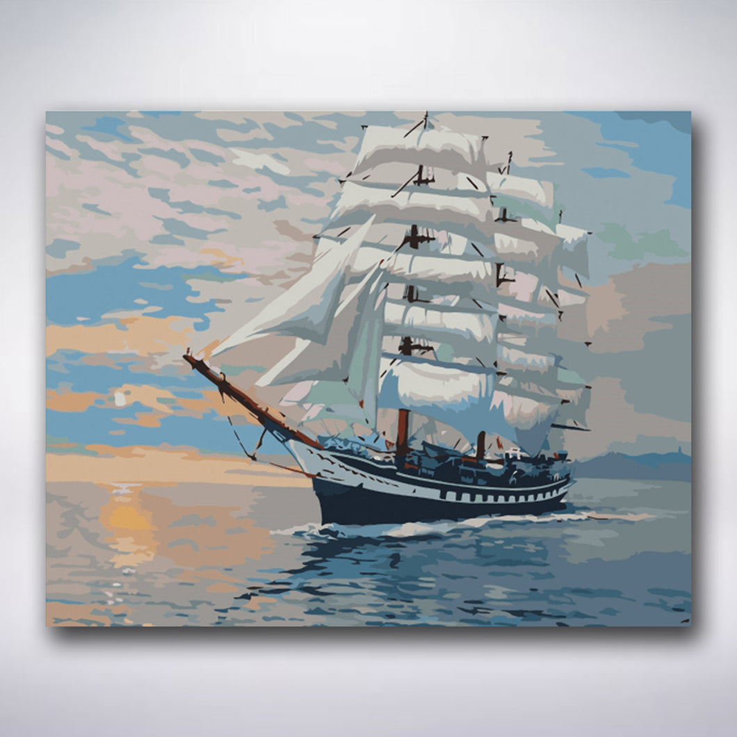 Big Sailboat - Paint by numbers