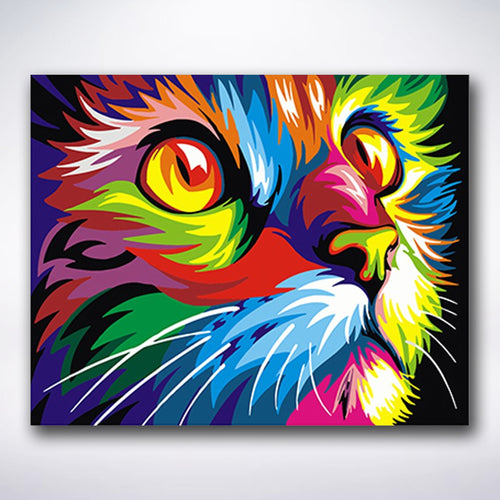 Colourful Cat - Paint by number