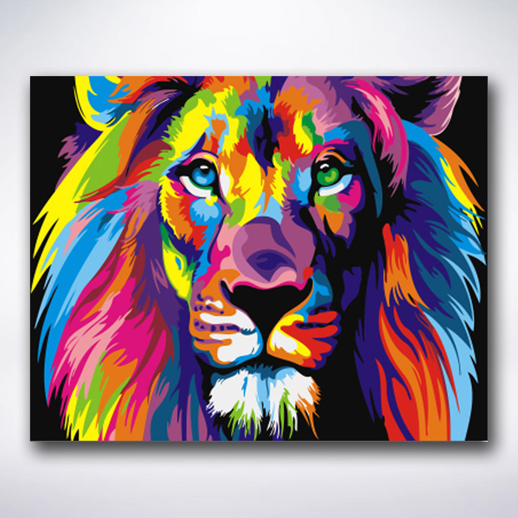 Colourful Lion - Paint by number