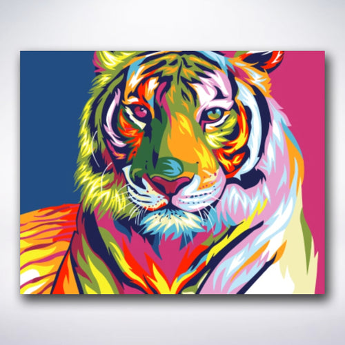Colourful Tiger - Paint by number