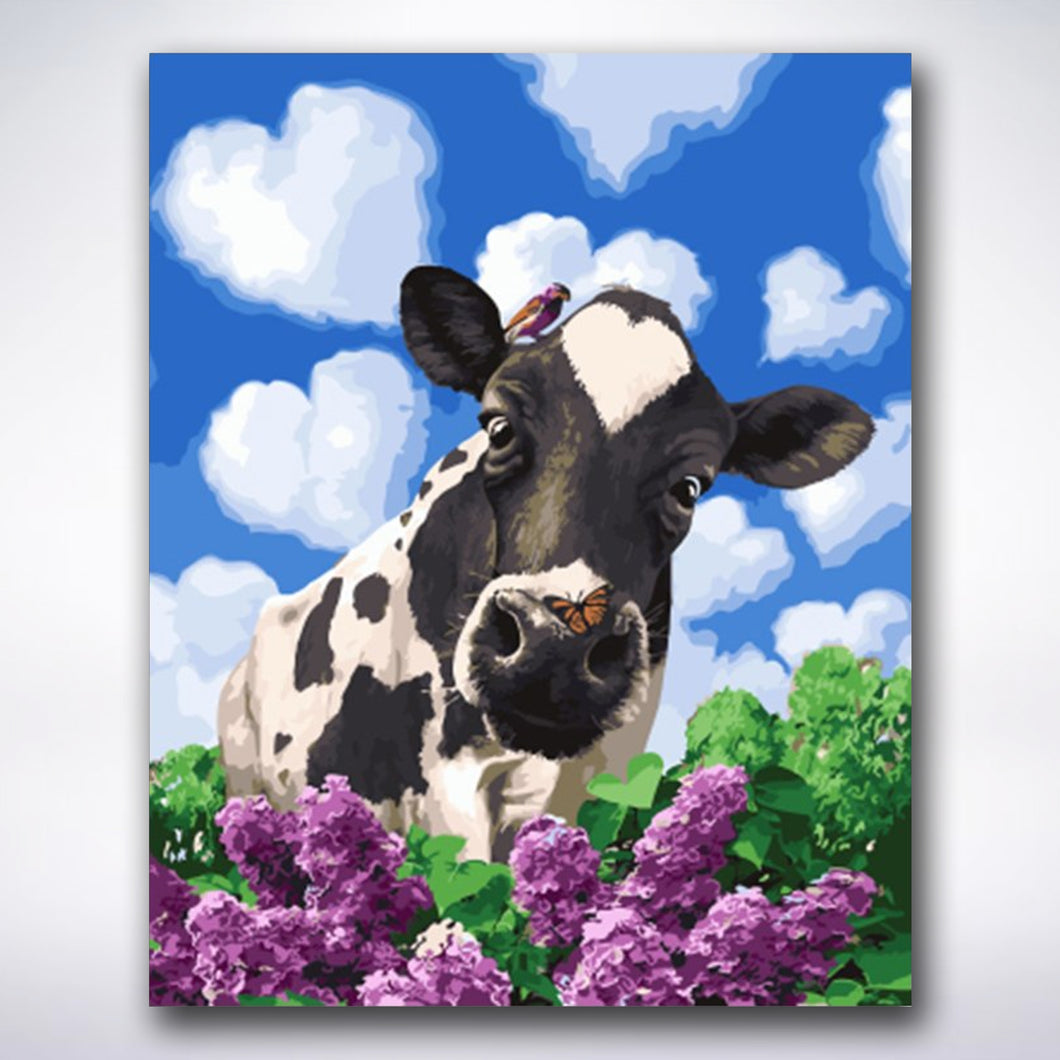 Curious Cow - Paint by numbers