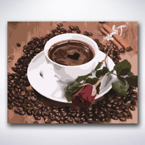 Dark Roasted Coffee - Paint by number