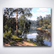 Load image into Gallery viewer, Dense Forest By The River - Paint by number