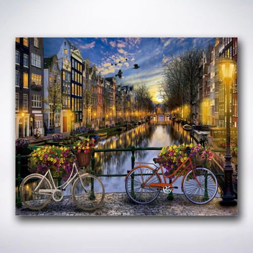 Dutch Canals By Night - Paint by number