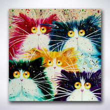 Load image into Gallery viewer, Five Cartoony Cats - Paint by number
