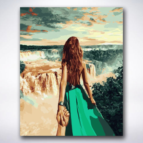 Follow Me Waterfall - Paint by number