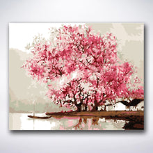 Load image into Gallery viewer, Lakeside Cherry Blossom - Paint by number