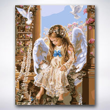 Load image into Gallery viewer, Little Angel Girl - Paint by number