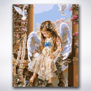Little Angel Girl - Paint by number