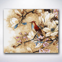 Load image into Gallery viewer, Lonely Bird On Branch - Paint by number