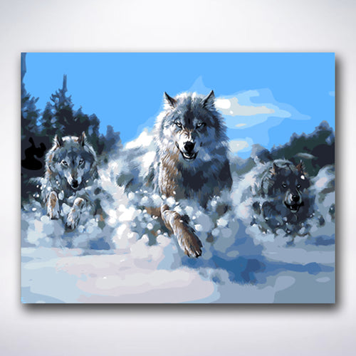 Mighty Pack Of Wolves - Paint by number