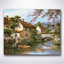 Load image into Gallery viewer, Old French Workers Village - Paint by number