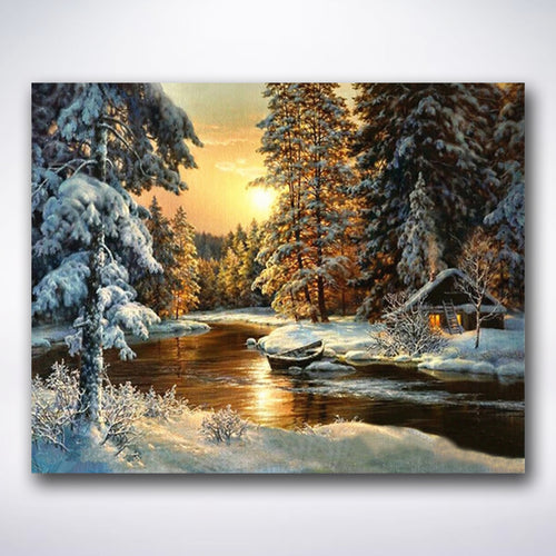 Peaceful Winter Retreat - Paint by number