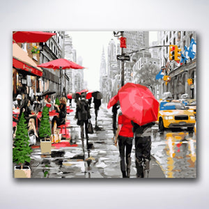 Rainy Day In New York - Paint by number