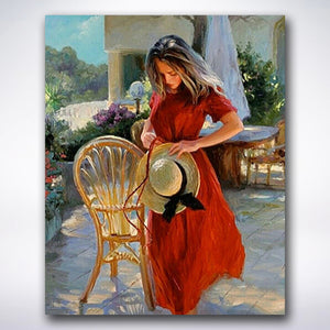 Red Dress Lady - Paint by number