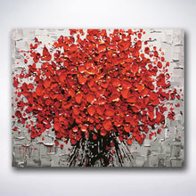 Load image into Gallery viewer, Red Paint Flowers - Paint by number