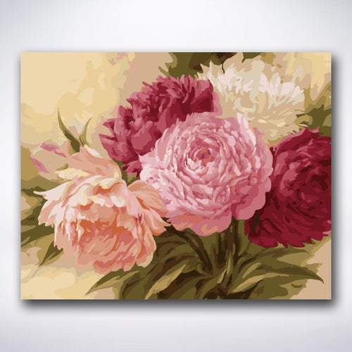 Romantic Set Of Roses - Paint by number