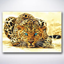 Load image into Gallery viewer, Sneaky Leopard - Paint by numbers
