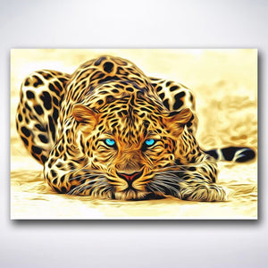 Sneaky Leopard - Paint by numbers