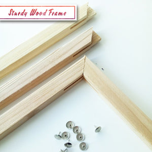 Sturdy diy wood frame for paint by numbers canvas