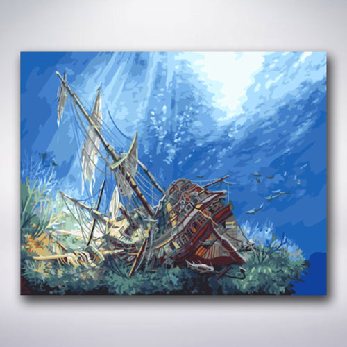 Sunken Sailboat - Paint by numbers
