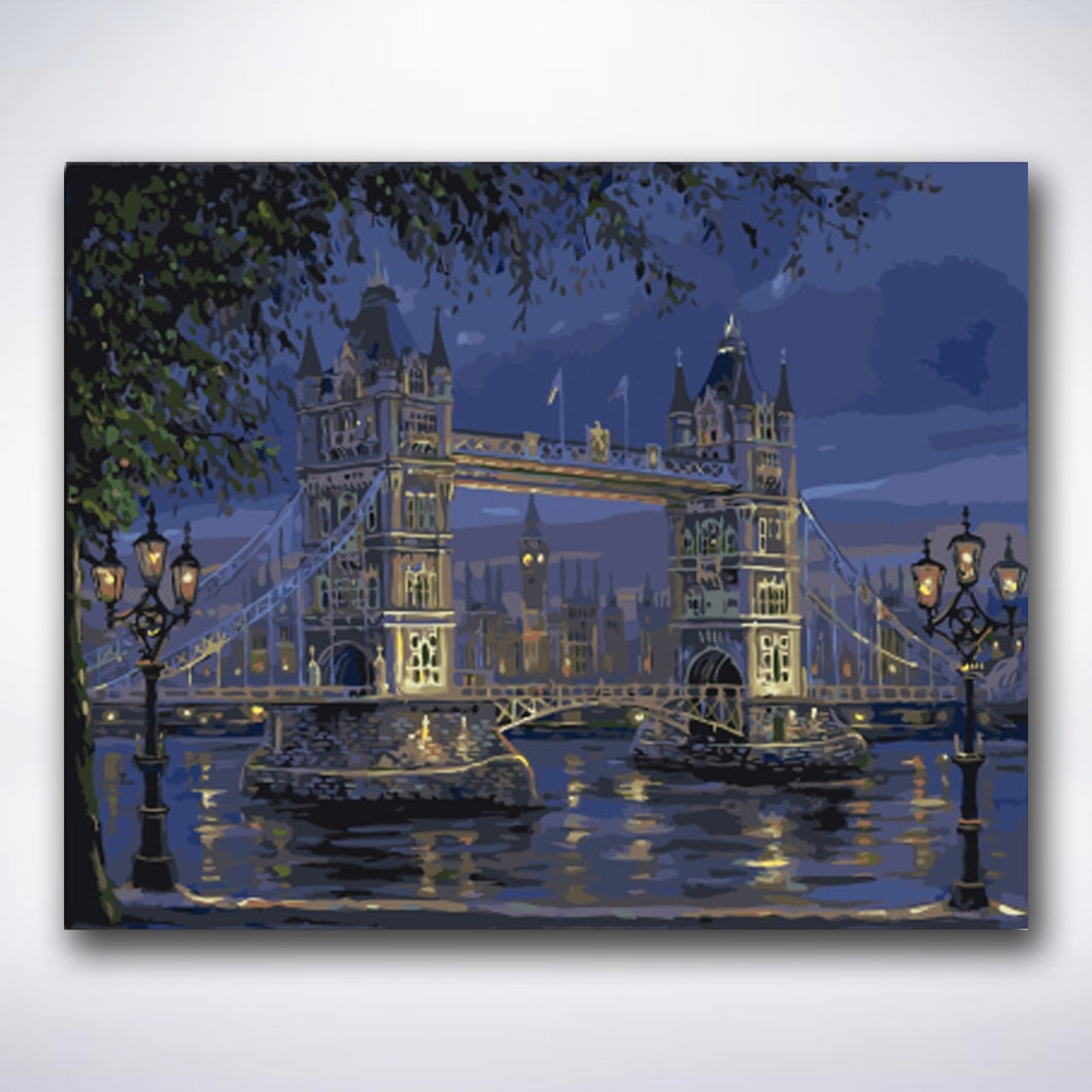 Tower Bridge By Night - Paint by number