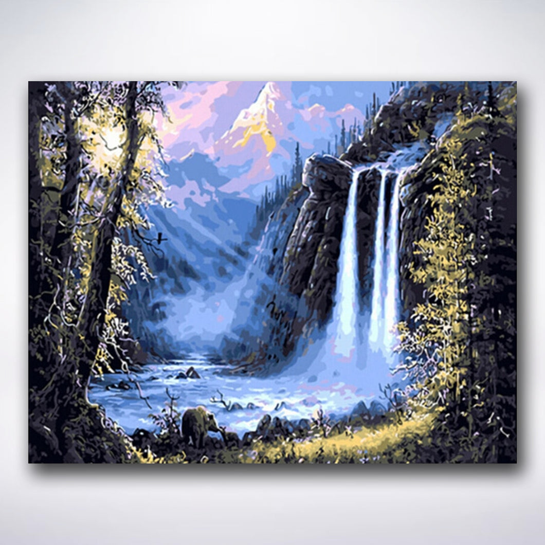 Waterfall Valley - Paint by number