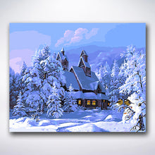 Load image into Gallery viewer, Winter Mansion - Paint by number