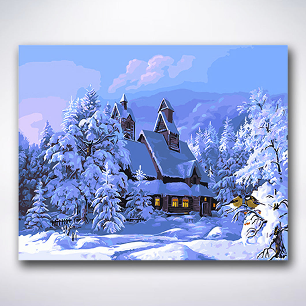Winter Mansion - Paint by number
