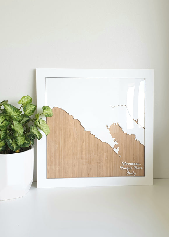 3D Coastal Map Art