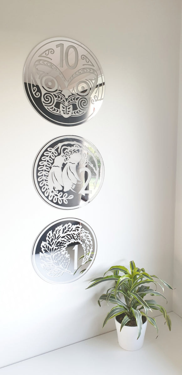 New Zealand Coin Trio - Wall Decor