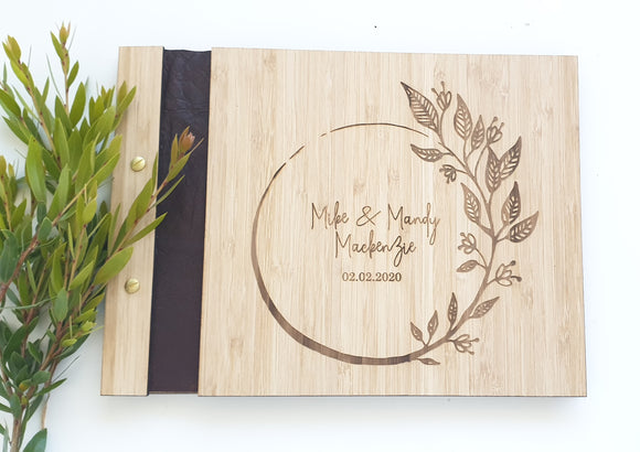 Wooden Engraved Guest Book