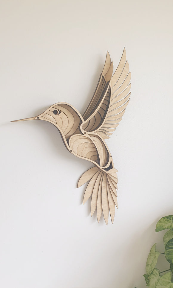 3D Hummingbird Wall Art