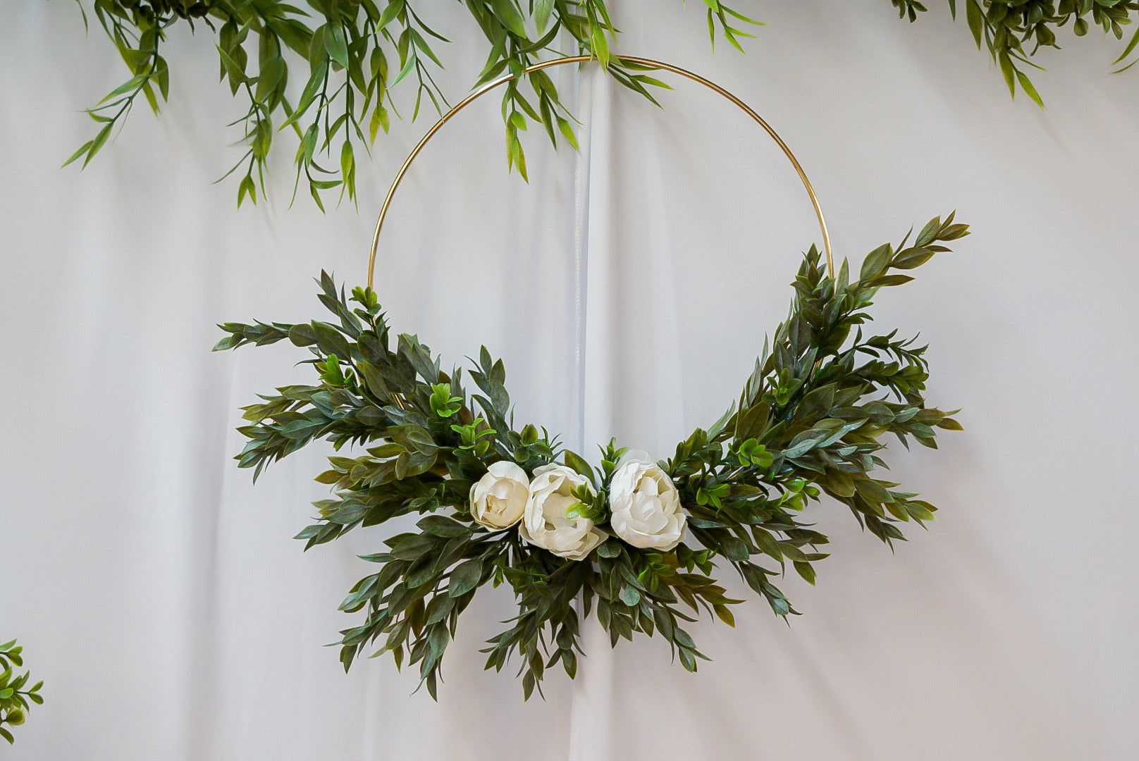 Molly Sue -12 inch Hoop Wreath